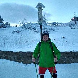 Ondřej Sládek na vrcholu Lysá hora (4.1.2021 15:37)