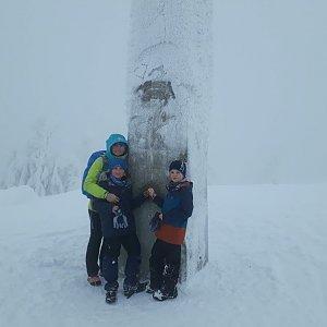 Paťule3 na vrcholu Lysá hora (13.1.2019 14:05)