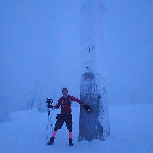 Kubek na vrcholu Lysá hora (13.1.2019 16:56)