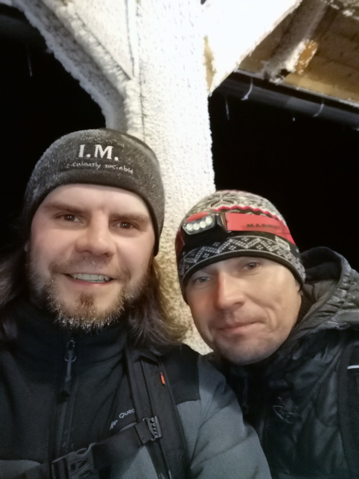 Johny na vrcholu Lysá hora (28.11.2018 19:20)