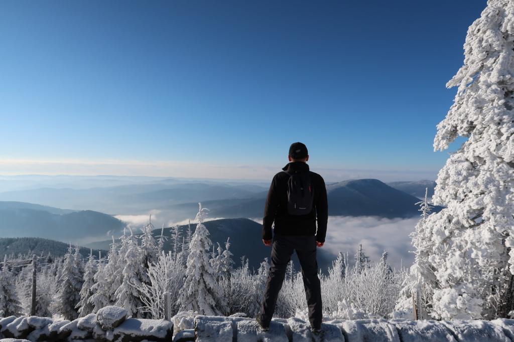 Tomáš Langer na vrcholu Lysá hora (14.1.2018 10:00)