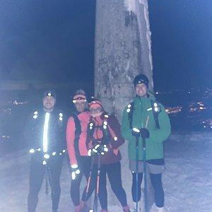 Dominika Turčeková na vrcholu Lysá hora (20.1.2021 18:00)