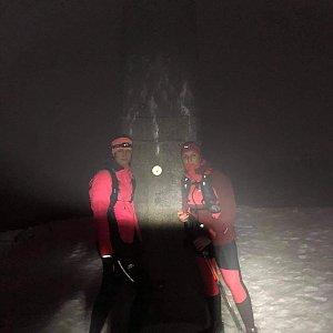 Dominika Turčeková na vrcholu Lysá hora (22.1.2021 18:00)