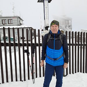 MUDr.Svatopluk Kunčar na vrcholu Lysá hora (24.1.2021 12:13)