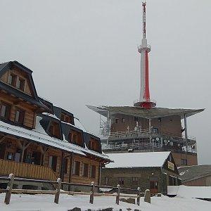 Gabča na vrcholu Lysá hora (2.2.2018 14:49)