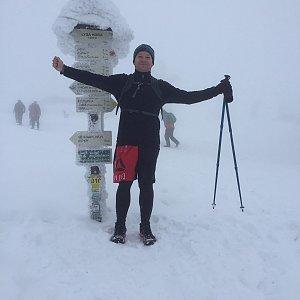 Jiří Šrámek na vrcholu Lysá hora (13.1.2019 12:00)