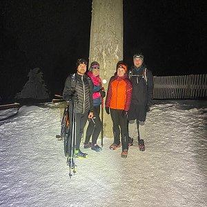 Dominika Turčeková na vrcholu Lysá hora (26.1.2021 17:00)