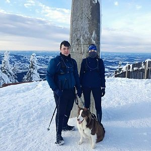 Markéta Čeníková na vrcholu Lysá hora (20.1.2021 11:15)