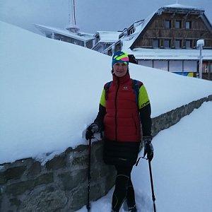 Petra Kosarkova na vrcholu Lysá hora (27.1.2021 16:30)