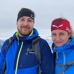 Dominika Turčeková na vrcholu Lysá hora (29.1.2021 10:00)