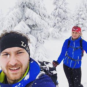 Dominika Turčeková na vrcholu Lysá hora (29.1.2021 13:30)