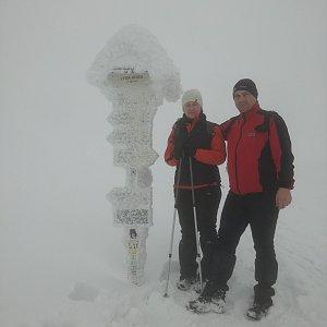 Jiří P na vrcholu Lysá hora (16.1.2019 12:50)