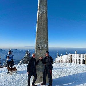 Bohumila Toufarová na vrcholu Lysá hora (31.1.2021 14:45)