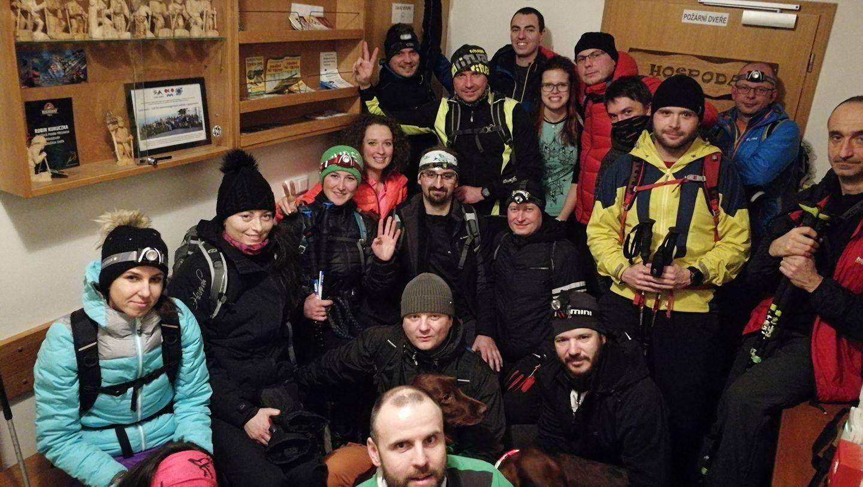 Dunik na vrcholu Lysá hora (4.1.2018 17:00)