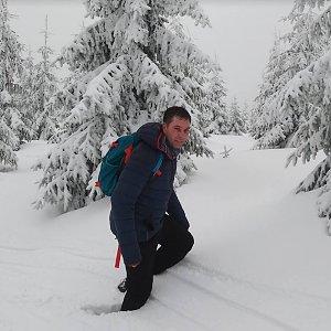 Michael Leppan na vrcholu Lysá hora (29.12.2018 13:14)