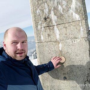 Petr Petrik na vrcholu Lysá hora (31.1.2021 12:57)