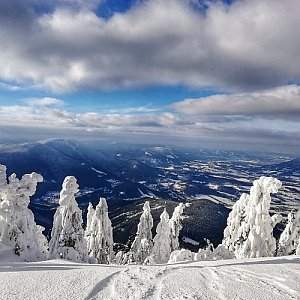 Martin Vlček na vrcholu Lysá hora (17.1.2019 11:00)