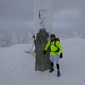 Tomáš Vašíček na vrcholu Lysá hora (17.1.2019 13:14)