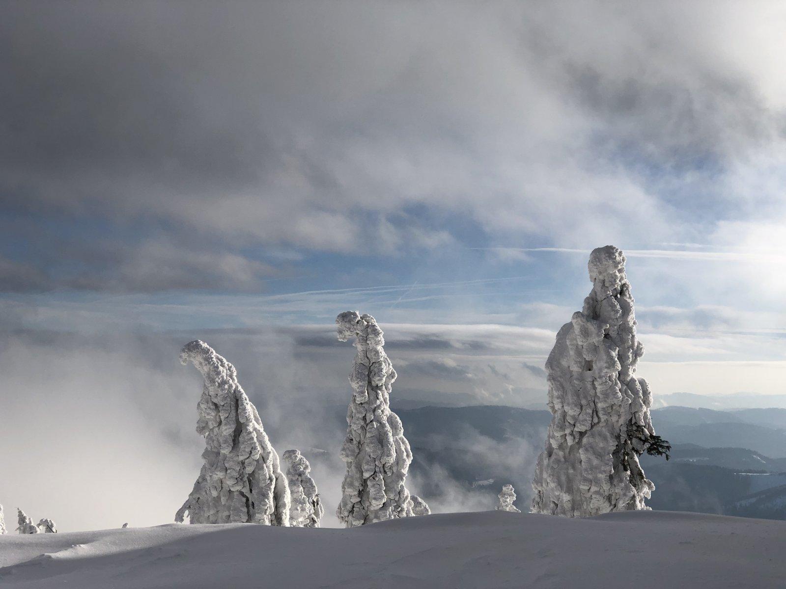 Zuzka Beyerová na vrcholu Lysá hora (17.1.2019 12:30)