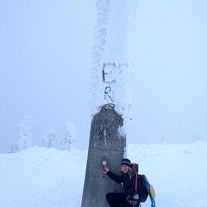 Simona na vrcholu Lysá hora (18.1.2019 10:30)