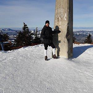 Filip Šimon na vrcholu Lysá hora (1.2.2021 10:12)