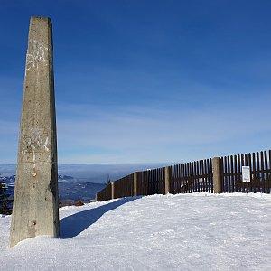 Petr Pepe Peloušek na vrcholu Lysá hora (1.2.2021 11:39)