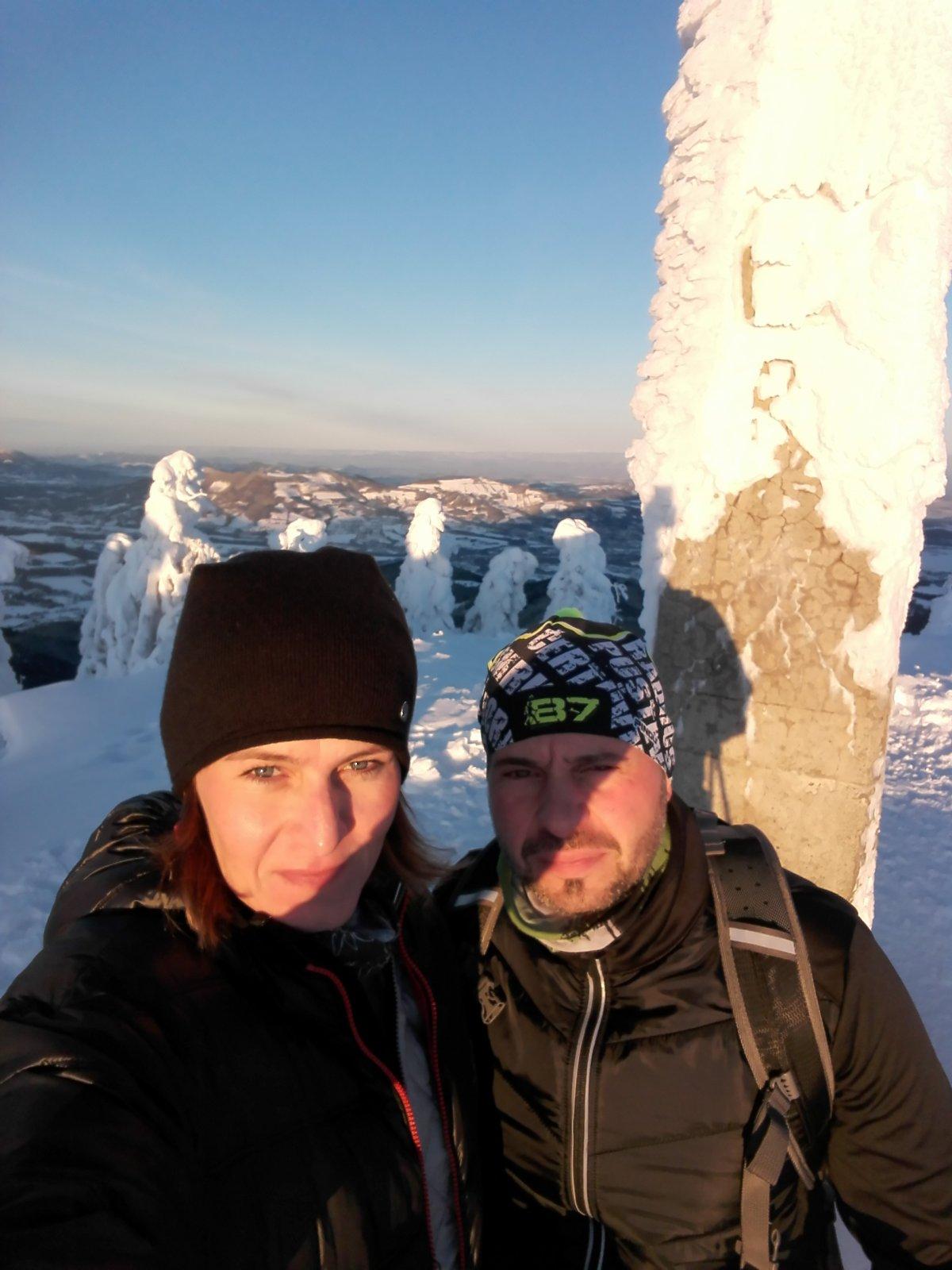 Petule na vrcholu Lysá hora (19.1.2019 7:50)