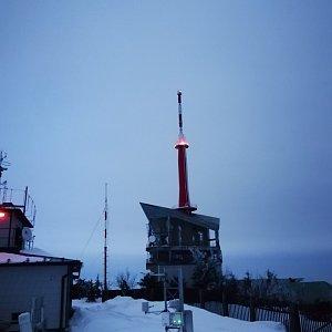 Petra Kosarkova na vrcholu Lysá hora (5.2.2021 17:10)