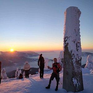 Kubek na vrcholu Lysá hora (21.1.2019 7:17)