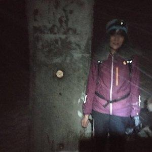 Jana Mayerová na vrcholu Lysá hora (4.1.2019 19:32)