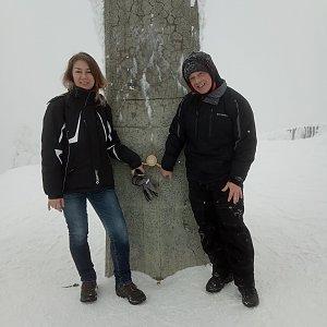 Libor Toufar na vrcholu Lysá hora (25.1.2019 13:25)