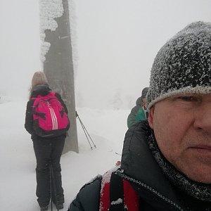 Jan na vrcholu Lysá hora (26.1.2019 11:50)