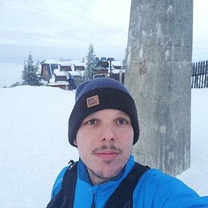 Ivoš na vrcholu Lysá hora (8.2.2021 16:57)