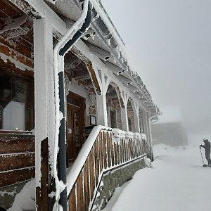 Markéta Čeníková na vrcholu Lysá hora (12.2.2021 14:20)