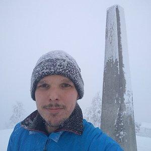 Ivoš na vrcholu Lysá hora (12.2.2021 15:30)