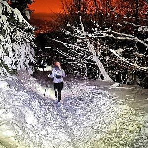 Jiří Nesit na vrcholu Lysá hora (27.1.2019 4:30)