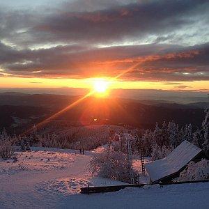 Dunik na vrcholu Lysá hora (14.1.2018 5:00)
