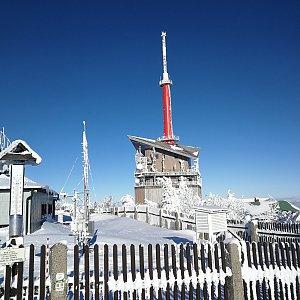 Petra Kosarkova na vrcholu Lysá hora (14.2.2021 15:05)
