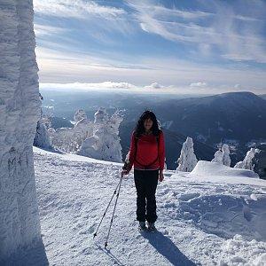 Jana Mayerová na vrcholu Lysá hora (19.1.2019 12:07)