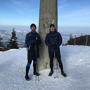 Boris na vrcholu Lysá hora (21.2.2021 9:35)