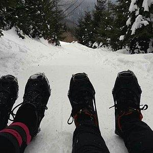 Adel Klimešová na vrcholu Lysá hora (1.2.2019 11:10)