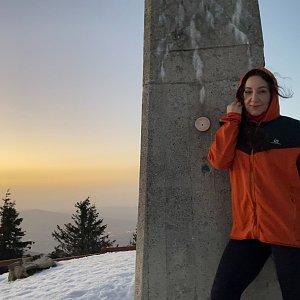 Pavlaja na vrcholu Lysá hora (25.2.2021 19:46)