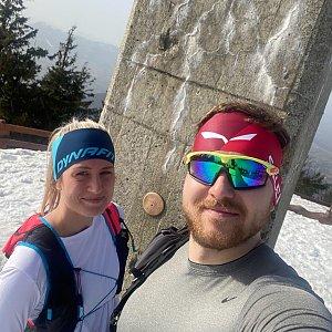 Dominika Turčeková na vrcholu Lysá hora (26.2.2021 14:30)