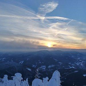 Jana Konečná na vrcholu Lysá hora (19.1.2019 13:34)