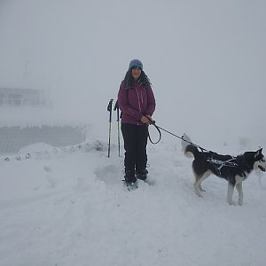 Jana Mayerová na vrcholu Lysá hora (13.1.2019 12:15)