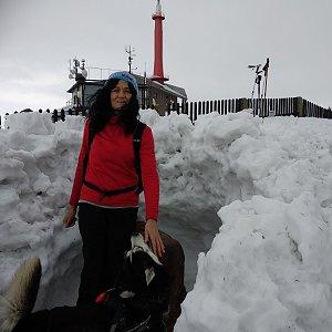 Jana Mayerová na vrcholu Lysá hora (3.2.2019 12:34)
