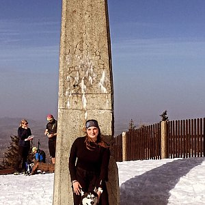 Nikol Podesvova na vrcholu Lysá hora (26.2.2021 11:58)