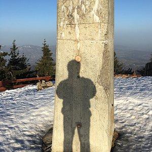 Jarek na vrcholu Lysá hora (26.2.2021 7:56)