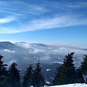 Simona na vrcholu Lysá hora (8.2.2019 12:30)