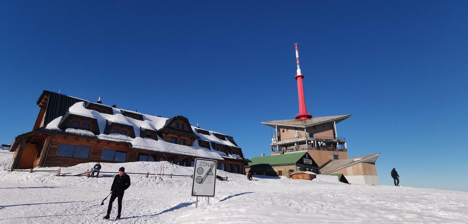 Jiří Nesit na vrcholu Lysá hora (8.2.2019 14:55)